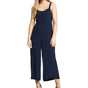 Madewell Button Front Wide Leg Jumpsuit 4